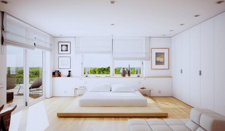 1-White-bedroom-design Master Bedrooms Summer Trends for Amazing Master Bedrooms 1 White bedroom design e1462445889923