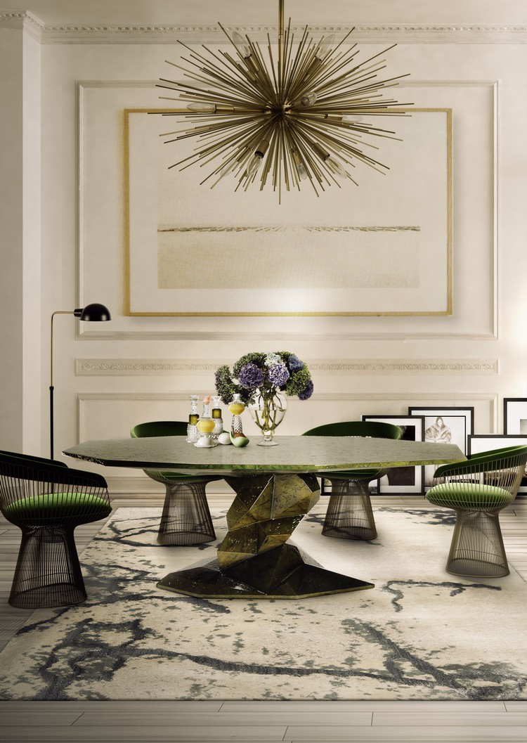 Green Dining Room Inspirations - How to Decorate with Green Accents green accents How to Decorate with Green Accents Green Dining Room Inspirations