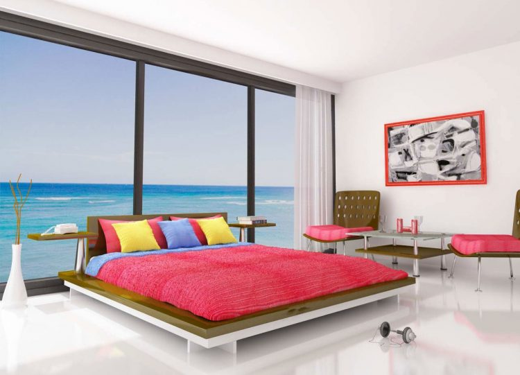 Modern bedroom with bright colorsModern bedroom with bright colors Master Bedroom Summer Trends – Master Bedroom Decorating Ideas Modern bedroom with bright colors e1463053611778
