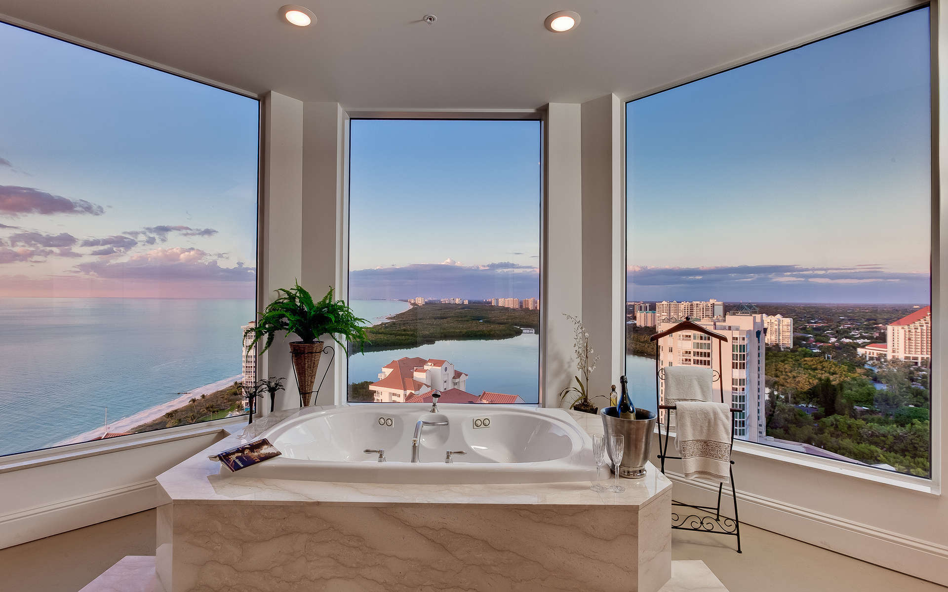 Luxury Bathrooms Luxury Bathrooms with Amazing Views naples fl bathroom with a long view over gulf of mexico 7
