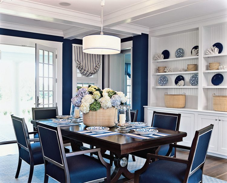 Blue Beach Style Dining Room Coastal Ideas