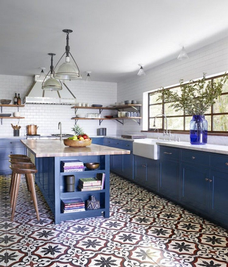 blue kitchen4 kitchen ideas Amazing Blue Kitchen Ideas blue kitchen4 e1470221455796
