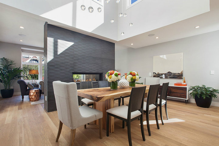 dining rooms dining rooms Best Fireplaces For Your Contemporary Dining Rooms 7 curbed