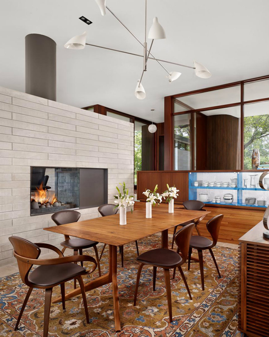 dining rooms dining rooms Best Fireplaces For Your Contemporary Dining Rooms 8 Kevin Alter