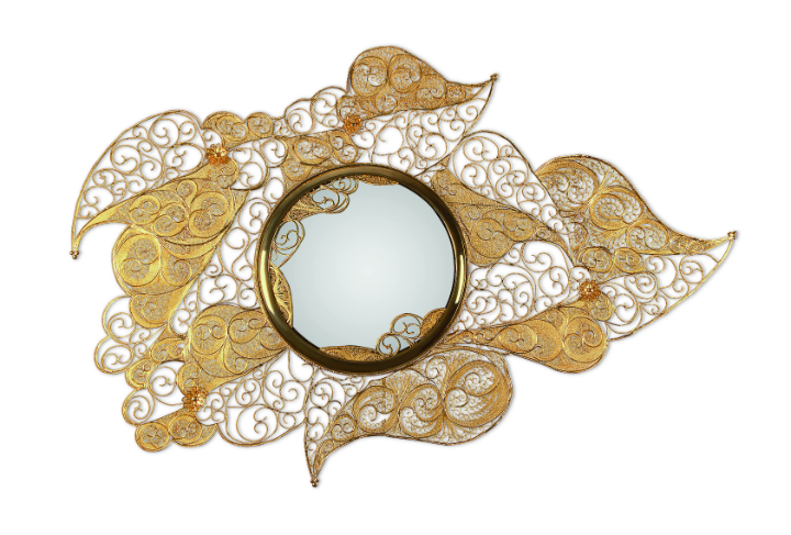 Gold Furniture filigree-mirror-01 gold furniture The Best Gold Furniture Pieces For Your Luxury Home filigree mirror 01