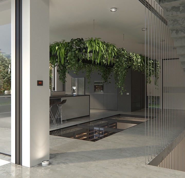 basementwinecellarglassfloorseedown modern house design Heartbreaking Wine Cellars For Modern House Design basementwinecellarglassfloorseedown