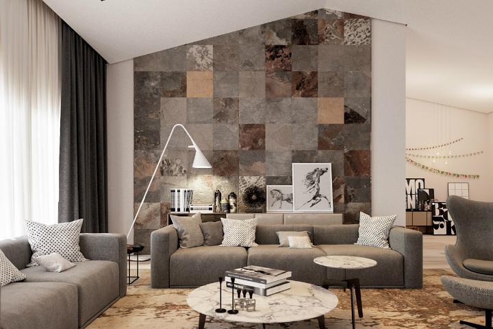 multicolor-tile-living-room home decor ideas Beautiful Home Decor Ideas For Modern Living Rooms multicolor tile living room