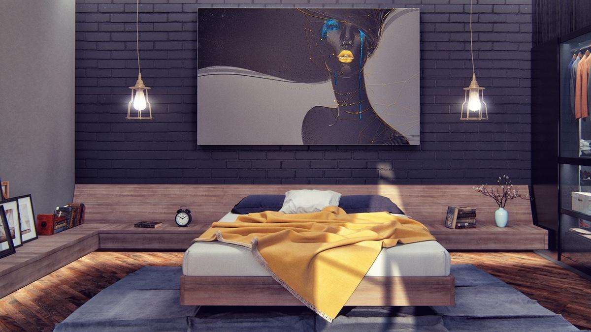 modern-dark-bedroom master bedroom decor ideas 9 Heartbreaking Master Bedroom Decor Ideas modern dark bedroom