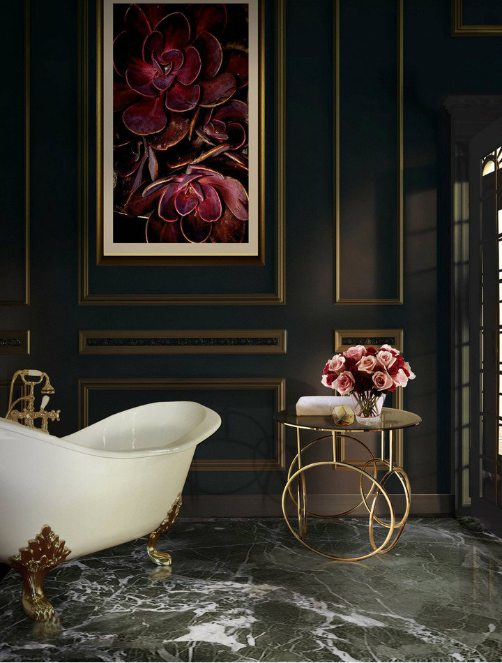 kiki-side-table-koket-projects Luxury Bathrooms Inspiring Luxury Bathrooms with Marble Accents kiki side table koket projects