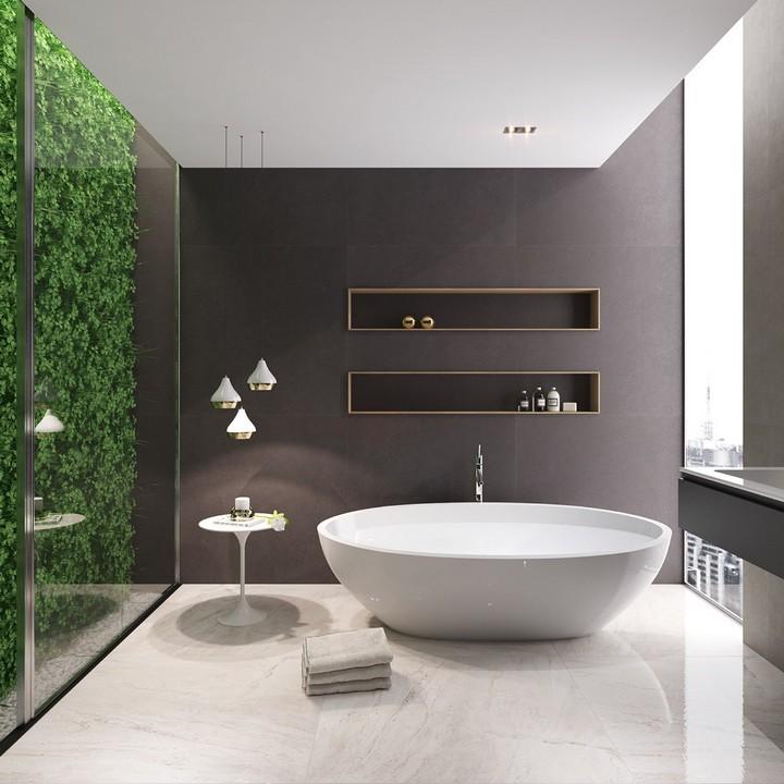 white-modern-tub bathtub ideas for luxury bathrooms 10 Inspiring Bathtub Ideas For Luxury Bathrooms white modern tub