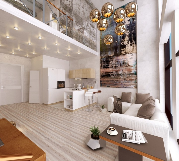 Tall Artwork For High Ceilings Modern House Design Decorating Ideas