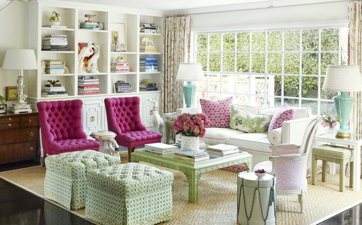 Home Decor Ideas, interior design ideas, modern house design, decorating ideas,  interior design secrets Best Interior Design Secrets Revealed gallery 1430235236 01 hbx hot pink armchairs 0515
