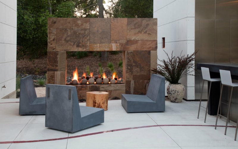 fireplace Summer Trends: 30 Striking Outdoor Fireplaces 010101