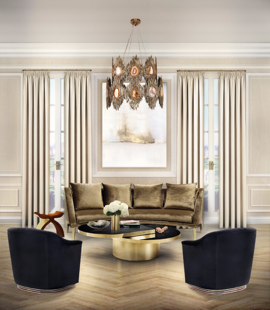 design ideas 50 Home Design Ideas For Modern Interiors geisha curve sofa koket projects