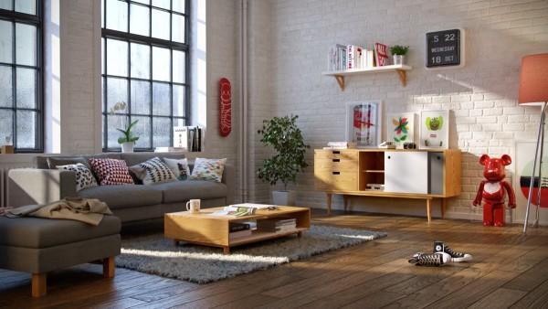 Scandinavian 25 Scandinavian Living Room Design Ideas low wood coffee table 600x338