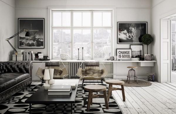 Scandinavian 25 Scandinavian Living Room Design Ideas modern chesterfield 600x390