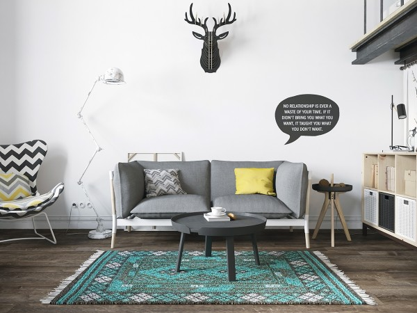 Scandinavian 25 Scandinavian Living Room Design Ideas small simple sofa 600x450