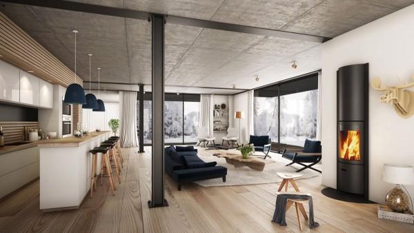 Scandinavian 25 Scandinavian Living Room Design Ideas vertical fireplace 600x338