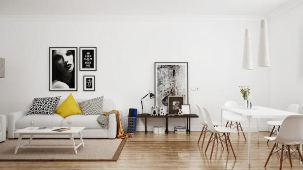 Scandinavian Scandinavian 25 Scandinavian Living Room Design Ideas white eames chairs 600x337