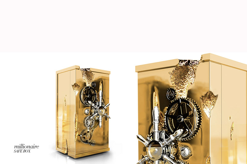 Gold Rush and Millionaire Luxury Safe The Gold Rush and Millionaire Luxury Safe by Boca do Lobo 0 millionaire luxury safe box 00