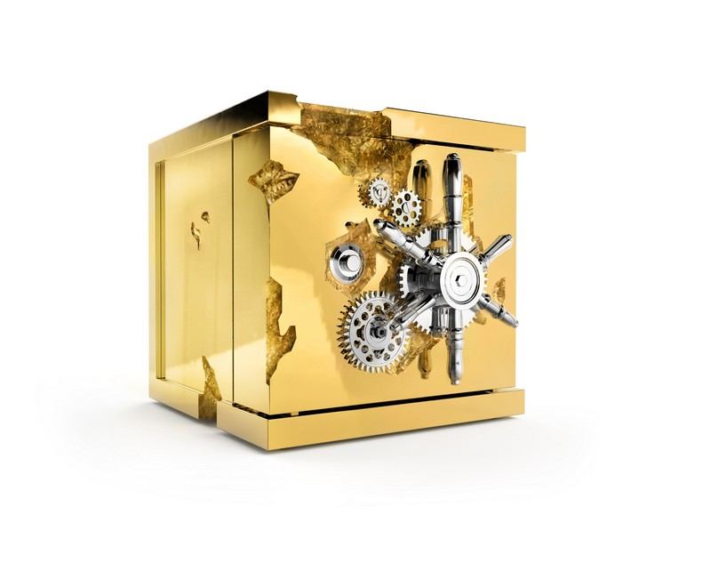Gold Rush and Millionaire Luxury Safe The Gold Rush and Millionaire Luxury Safe by Boca do Lobo MILLIONIARE TABLE TOP