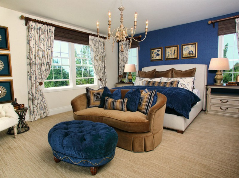 20 Bedroom Designs with Navy Blue and Gold Accents | Home ...