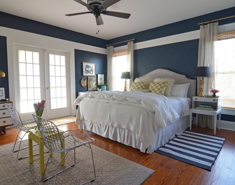 20 Bedroom Designs With Navy Blue And Gold Accents Home Decor Ideas