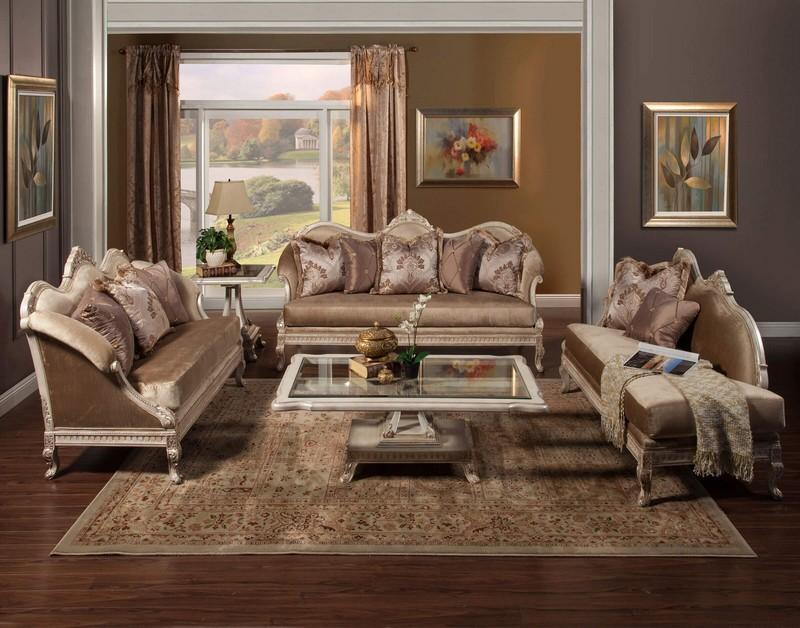 Wayfair Discover The New Luxury Brand by Wayfair Perla Wood Trim Sofa Chaise Lounge Set