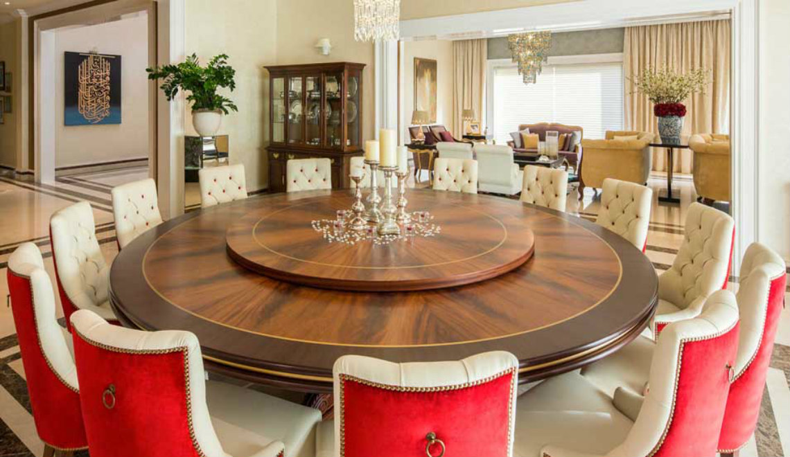 nikki b Stunning Home Décor Ideas by Nikki B Creative dining table design from Emirates Hills Villa