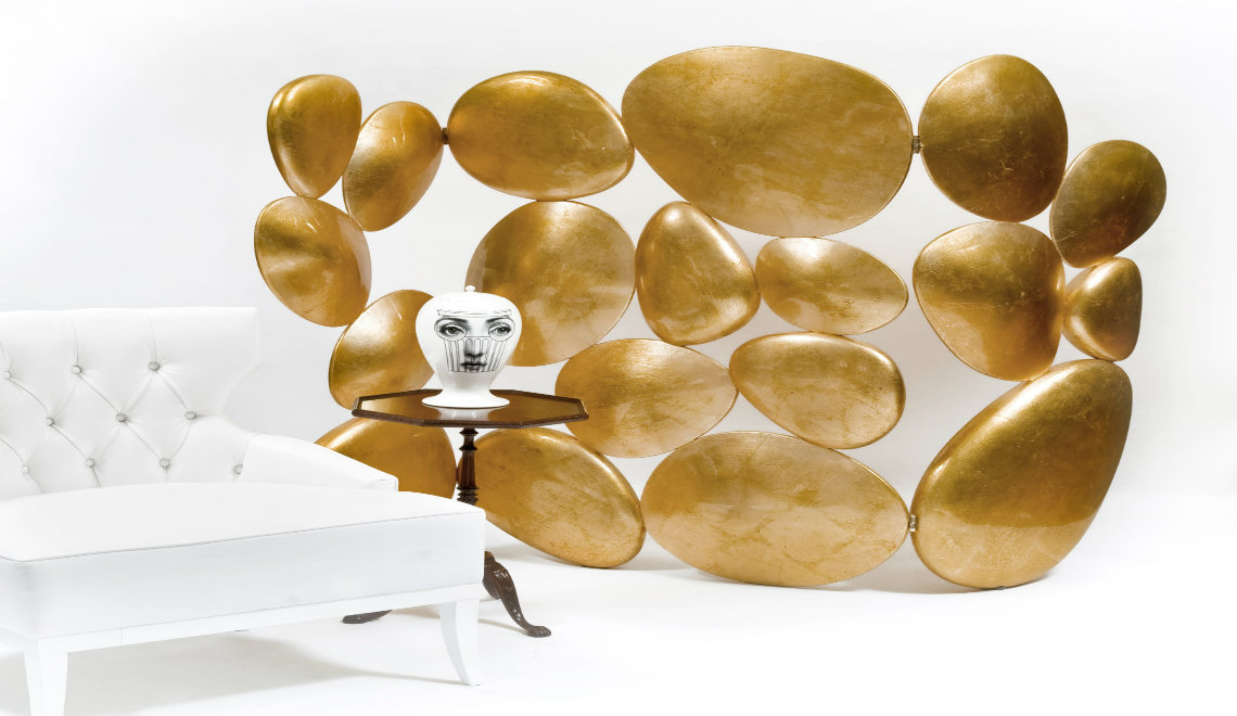Exclusive Home Décor: The Gold Folding Screen by Boca do Lobo