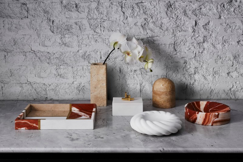 home décor Unique Home Décor Accessories From Marble, Shell, Brass by Greg Natale greg natale accessories BL 6