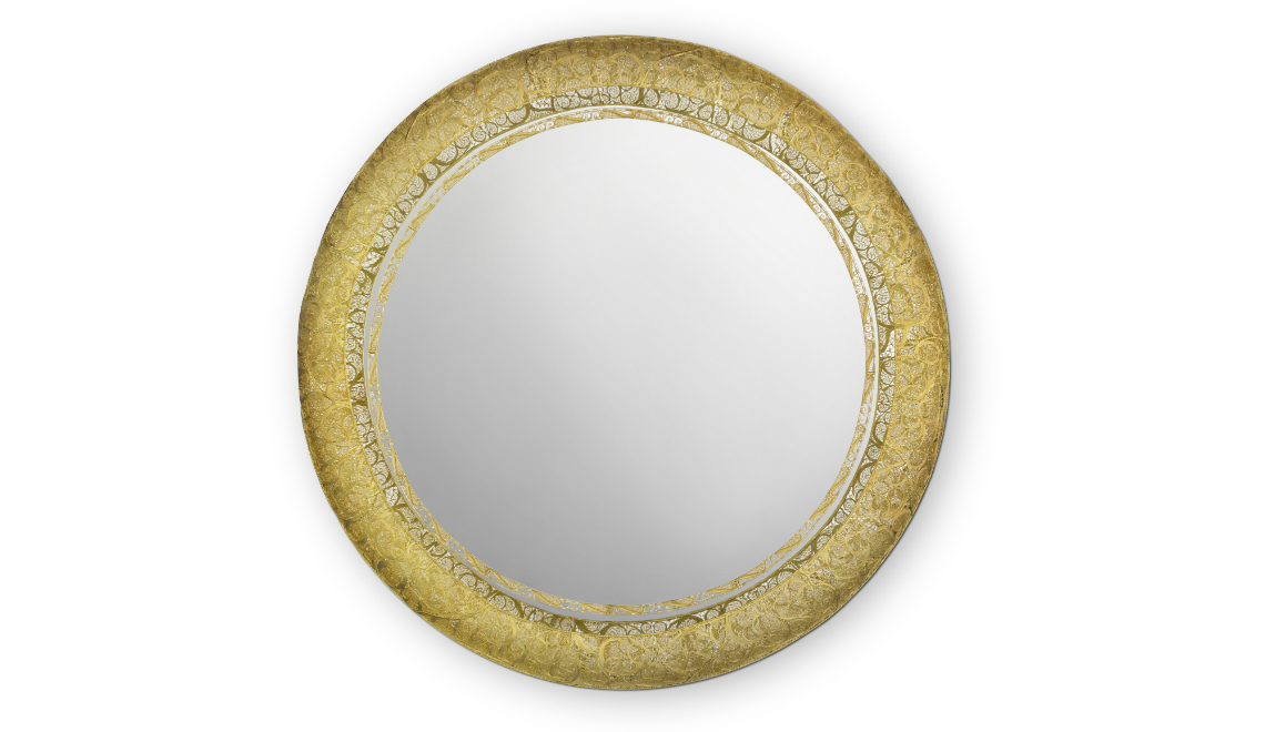 round mirror Boca do Lobo's New Round Mirror Reinvents The Art of Filigree feature 9