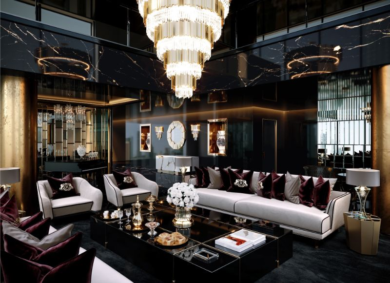 Celia Sawyer Designs Masculine Yet Glamorous Luxury Home (1) luxury home Black and Gold Reign In This Luxury Home Celia Sawyer Designs Masculine Yet Glamorous Luxury Home 1