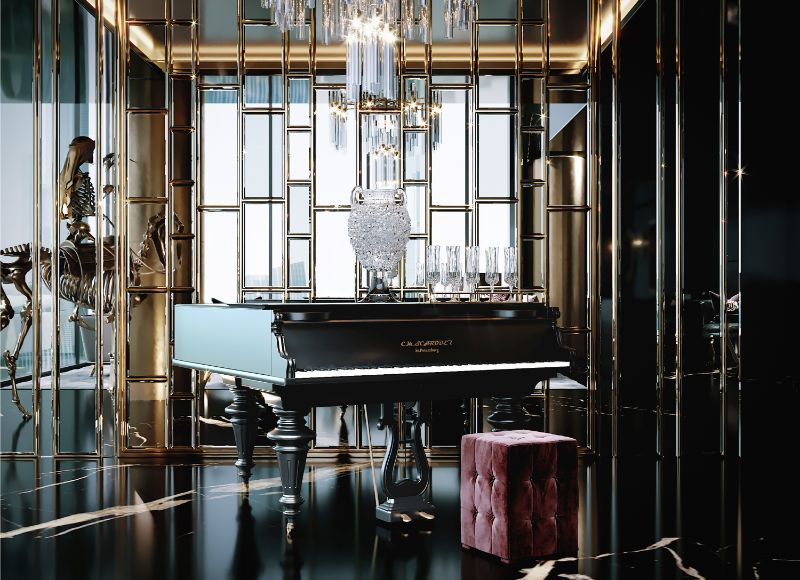 Celia Sawyer Designs Masculine Yet Glamorous Luxury Home (4) luxury home Black and Gold Reign In This Luxury Home Celia Sawyer Designs Masculine Yet Glamorous Luxury Home 4