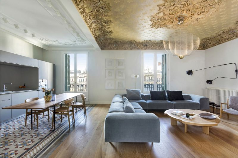 A Barcelona Apartment Gets Revamped By Vilablanch (7) barcelona apartment A Barcelona Apartment Gets Revamped By Vilablanch A Barcelona Apartment Gets Revamped By Vilablanch 7